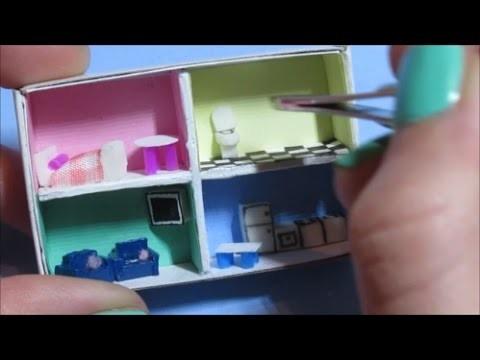 MINI poppenhuis maken! In een luciferdoosje!