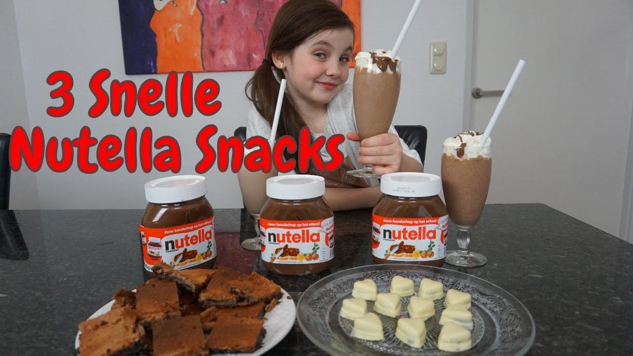 DIY - Zelf 3 Snelle Nutella Snacks Maken - Bibi (Nederlands)