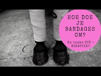 Hoe moet je bandageren? En een leuke DIY & WINACTIE #JoanneNeidhoferHorses #vlog27