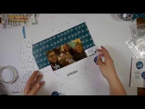 Scrapbook LO Process Video #17 Sangria