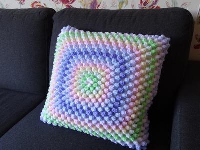 Crochet Popcorn kussensloop haken