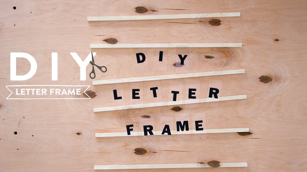 DIY Letter frame | Westwing stijltips