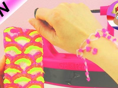 Gel a Peel Nederlands DIY ARMBAND zelf maken | Neon set getest | Demo Speel met mij kinderspeelgoed