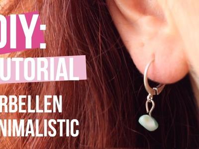Sieraden maken: Trendy Minimalistic oorbellen ♡ DIY