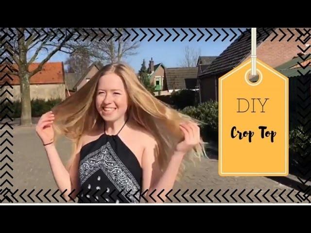 DIY van bandana naar crop top | KNIPgirls Charissa