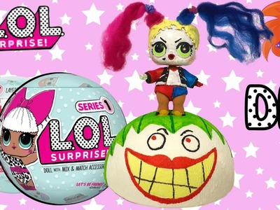 LOL Surprise bal DIY - ball make-over - Harley Quinn & The Joker (Nederlands)