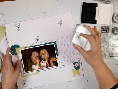 Scrapbook Layout Process Video #19 Starbucks