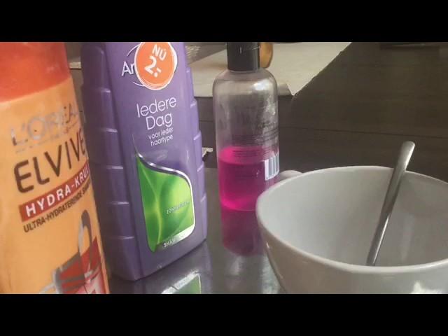 Slijm maken met douchegel