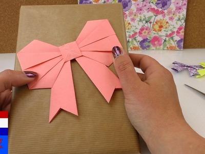 Origamistrik vouwen handleiding Nederlands– geschenkverpakking – schattige strik tutorial