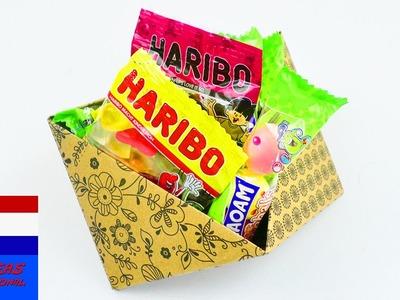 Klein doosje vouwen & plakken! supereenvoudig voor kinderen | snoepdoosje | decoratie
